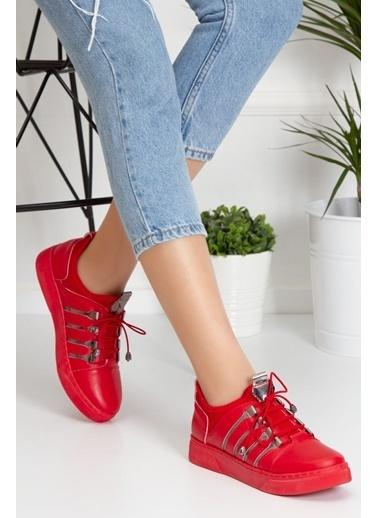 Derithy Sneaker-Kırmızı-Abn0604 Kırmızı